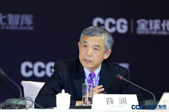 清华大学苏世民书院院长,CCG学术委员会专家薛澜