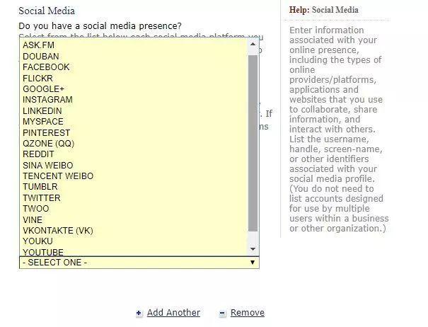 美签新政正式实施!现在申请需要提供QQ、微博等社交账号