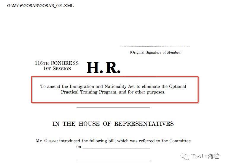 毕业后或将无法留美工作?美议员议案:彻底取消OPT签证!