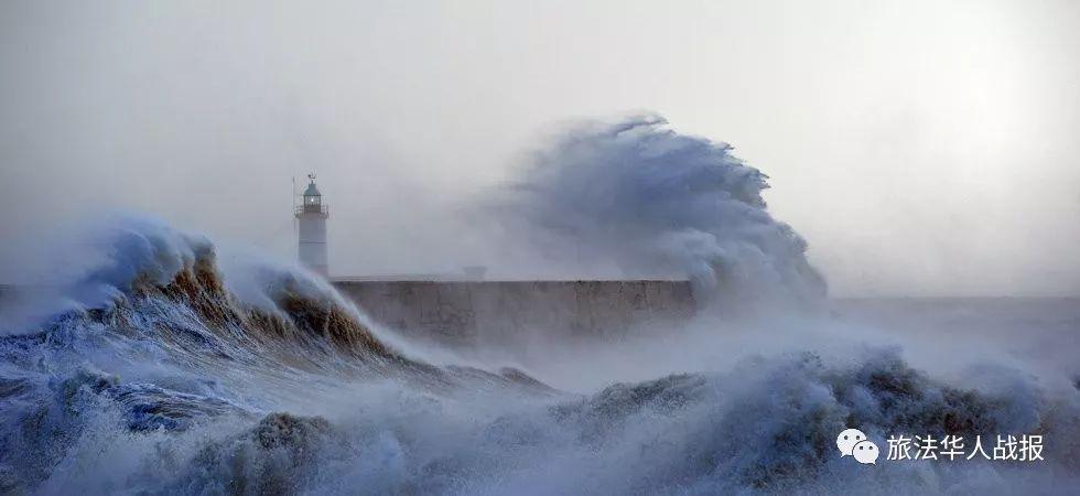 """夏季罕见风暴来袭 """"米盖尔""""将狂扫法国西部"""