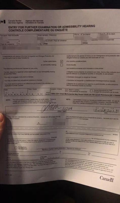 花27000加币办的工签竟然是PS的,被边境局要求一周内回国