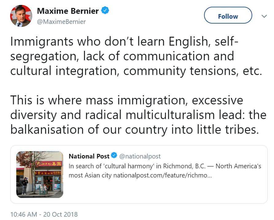 削减加拿大70%移民配额,加拿大版特朗普你敢选?