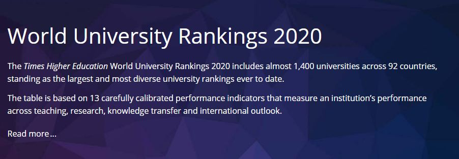 重磅!2020年泰晤士世界大学排名发布!(英国篇)