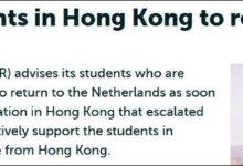 英美多校呼吁留学生撤离香港,荷兰高校也坐不住了-留学世界 Study Overseas Global Study Abroad Programs Overseas Student International Studies Abroad