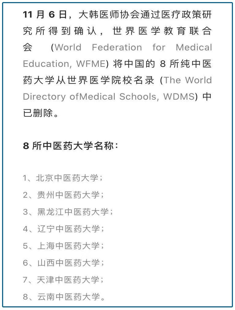 8个中医药大学被除名!是谁在毁掉中医?
